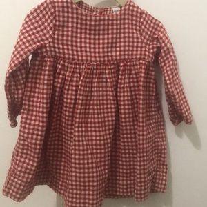 Petit Bateau Red Gingham Dress/Tunic 18mo